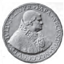 link to page concerning Pope Julius II (Della Rovere); medal by Gian Cristoforo Romano