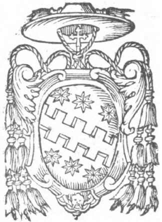 link to page concerning  the Sede Vacante of 1590;  arms of Cardinal Aldobrandini