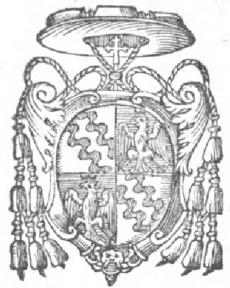 link to page concerning the Sede Vacante of 1591;  the coat of arms of Cardinal Enrico Caetani