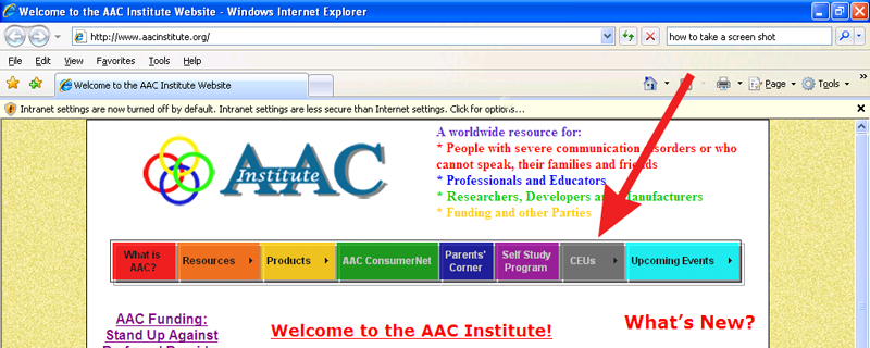 AAC Institute website screenshot