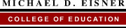 Michael D. Eisner College of Education wordmark