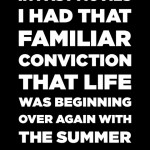 Great Gatsby summer quote