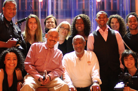 Comedian Bill Cosby and CSUN film students