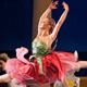 Ballet dancer dancing on stage