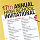 17th Annual High School Student Invitational