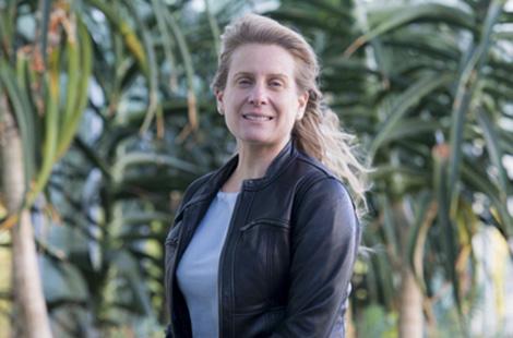 Math professor Maria D'Orsogna