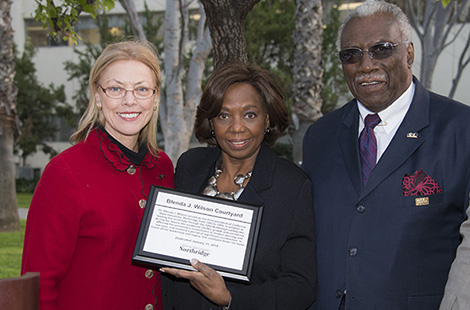 Former CSUN President Blenda J. Wilson saluted at ceremony