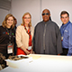 President Dianne F. Harrison and legendary musician Stevie Wonder tested the latest in tech wear from Google.