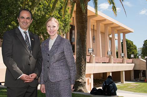 David Nazarian and CSUN President Diane F. Harrison