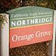 CSUN orange Grove sign.