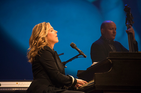 Diana Krall at her piano