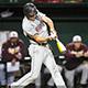 CSUN baseball hitter swinging.