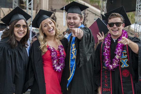 Graduating students at CSUN.