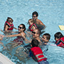Students swimming at Sunny Days camp.