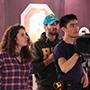 CSUN film students work with camera.