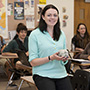 Claire White in her classroom