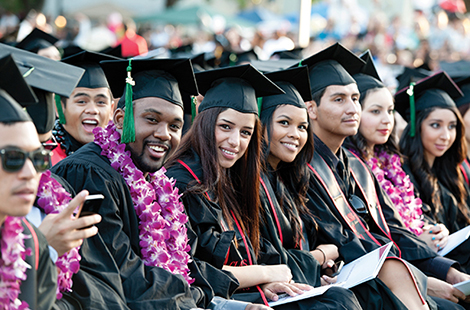 Diverse CSUN students at graduation