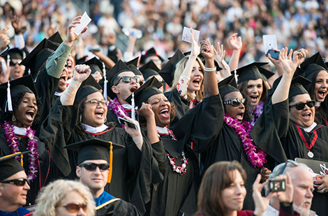 CSUN graduates at commencement