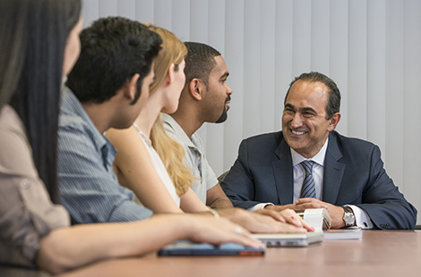 David Nazarian with CSUN students