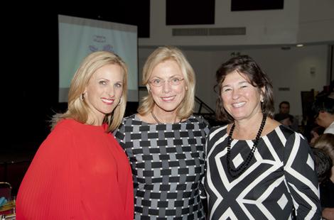 Marlee Matlin, President Dianne F. Harrison and Roz Rosen