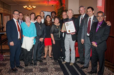 CSUN receives award for Canoga Park scholarship program.