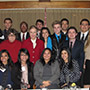 Interns with President Harrison and Dean Stella Theodoulou