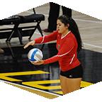A CSUN women's volleyball player