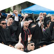 CSUN graduates in cap and gown