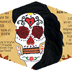 Event flyer with image of skull