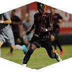 A CSUN men's team soccer player