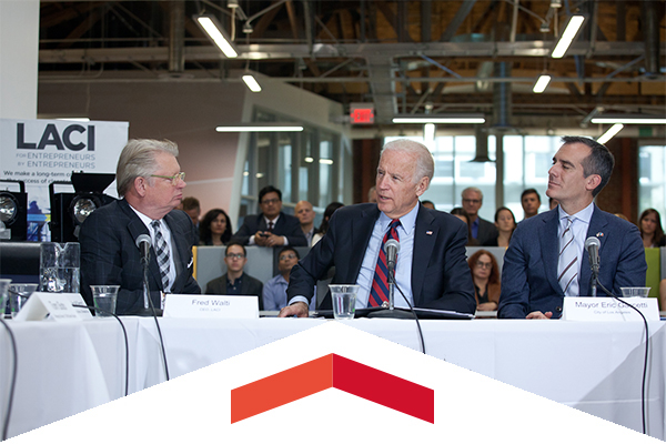 LACI CEO Fred Walti and Vice President of the United States Joe Biden