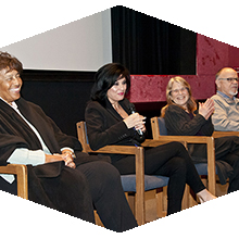 Lorraine Bradley and other panel members