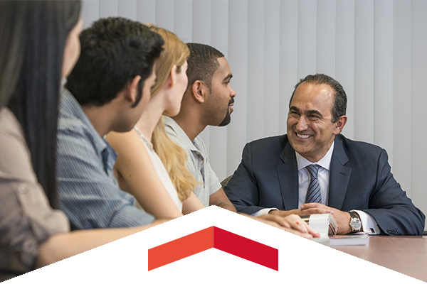 David Nazarian with students