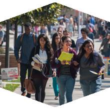 CSUN students walking