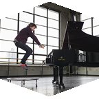 musician with piano