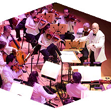 Richard Kaufman conducting an orchestra
