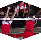 CSUN volleyball players