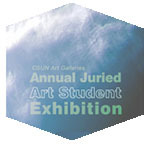 Annual Juried Art Student Exhibition flyer