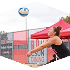 CSUN beach volleyball player