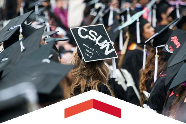 Graduates wearing caps