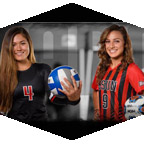 CSUN women's volleyball and soccer players.