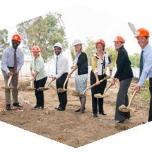 CSUN officials break ground on sustainability center.