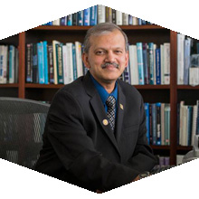 CSUN Dean of the College of Engineering and Computer Science, SK Ramesh, poses for a photo