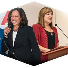 U.S. Senate Candidates Loretta Sanchez and Kamala Harris Visit CSUN to Rally Young Voters.