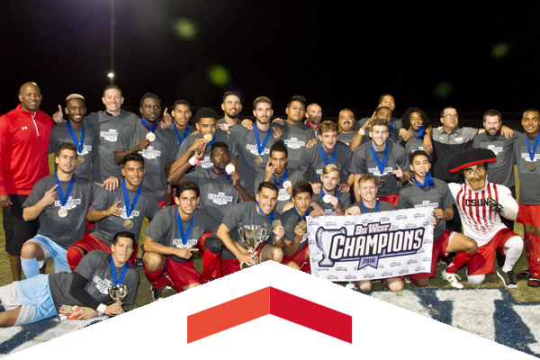 CSUN men's soccer wins Big West title and qualifies for NCAA Tournament.