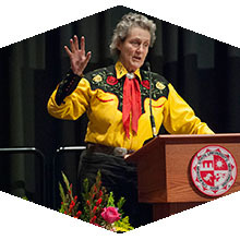 Autism advocate Temple Grandin spoke at CSUN.