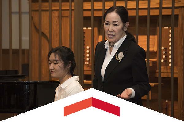 Alumna Shigemi Matsumoto conducted a master class at CSUN, then made a planned gift of $1 million to the university.