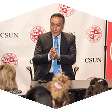 Former HUD Secretary Henry Cisneros spoke to CSUN students.