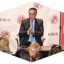 Former HUD Secretary Henry Cisneros spoke to CSUN students.