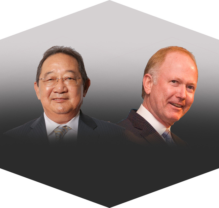 CSUN 2017 honorary doctorates will be awarded to Michael Watanabe and Bill Griffeth.